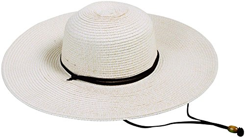 Toppers Womens Beachwear Wide Brim UPF 50+ Sun Protective Straw Hat (Woven Hat)