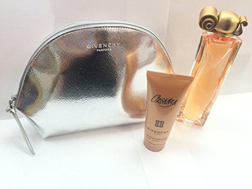 Organza by Givenchy for Women 3 Piece Set Includes: 3.3 oz Eau de Parfum Spray + 2.5 oz Silk Body Veil + Travel (Givenchy Gardenia Perfume)