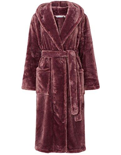 Slenderella Robe de Chambre a Manches Longues a Capuche - Marron HC6345