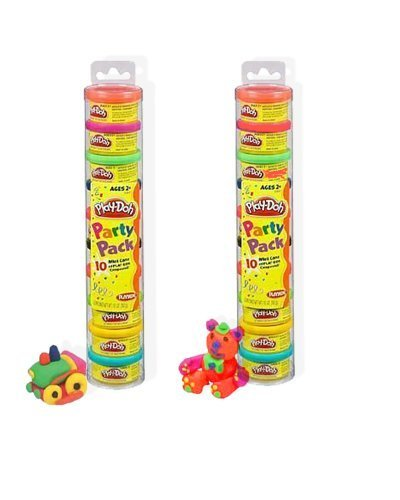 Play-Doh Party Pak Tubes 10 Cans Per Tube - 2 Tube Pack