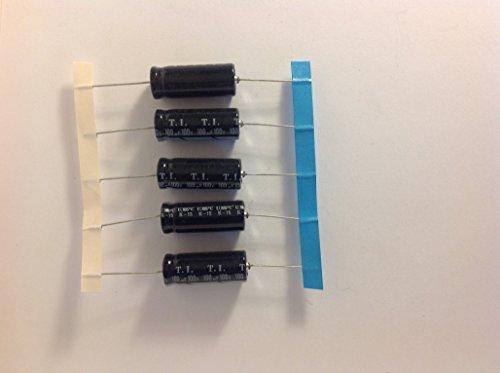 5 x Axial Electrolytic Capacitors 100uf 100v For Amp Repair Building 105c ()