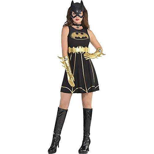 Suit Yourself Batgirl Fit & Flare Halloween Costume Dress for Women, Batman, Medium -