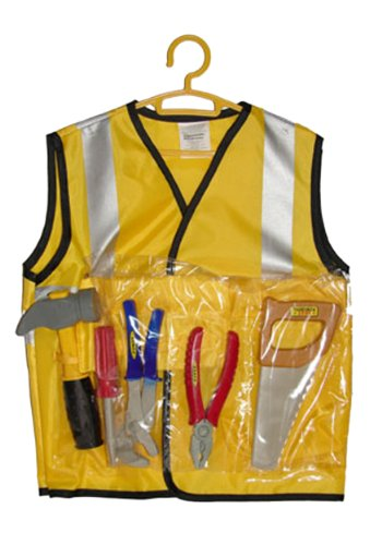 [Funny Fashions mens Kids Construction Worker Kit Standard] (Man Construction Worker Costume)