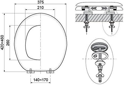Wirquin 20721501/Trendy Line/ /Tapa para inodoro Origami