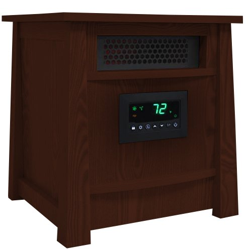 Lifesmart Corp Lifelux Series Ultimate 8 Element Extra Large Room Infrared Heater W/ Air Ionizer System Deluxe Wood Cabinet & Remote Lifesmart