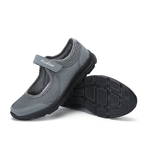 Fitness Anti Sneaker Running Bhydry Grigioscuro Scarpe Sportive Donna Moda Sandali Slip WYWqFI