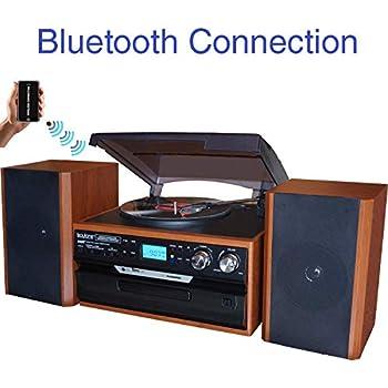 Amazon.com: Boytone BT-28MB, Bluetooth Classic Style Record ...
