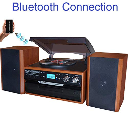 Boytone BT-24MB Bluetooth Classic Style Record Player