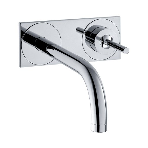 Axor 38117001 Uno Wall Mounted Single Handle Faucet with Baseplate in Chrome - Axor Uno