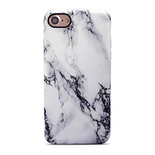 GOLINK iPhone 7 Case/iPhone 8 Case, Slim-Fit Anti-Scratch Shock Proof Anti-Finger Print Flexible TPU Gel Case for iPhone 7/iPhone 8 - White Marble II