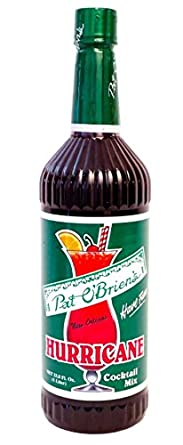 Amazon Com Pat O Briens Hurricane Cocktail Mix New Orleans 33 8
