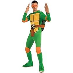 Nickelodeon Ninja Turtles Adult Raphael and Accessories, Green, x-Large Costume