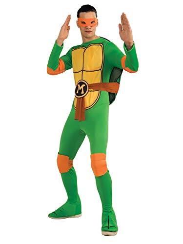 Nickelodeon Ninja Turtles Adult Michelangelo and Accessories, Green, x-large Costume