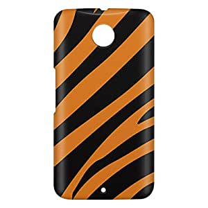 Loud Universe Motorola Nexus 6 3D Wrap Around Tiger Print Cover - Orange/Black