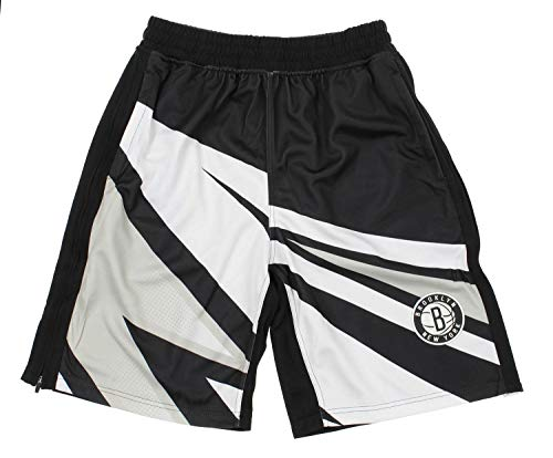 Zipway NBA Men's Motorcross Athletic Shorts, Team Options (Brooklyn Nets, X-Large)