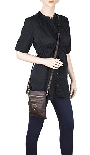Crossbody MKF Travel Messenger Shoulder Purse Zipper K Turquoise Bag Collection Farrow Woman��s Multi Mia XqaR4xq