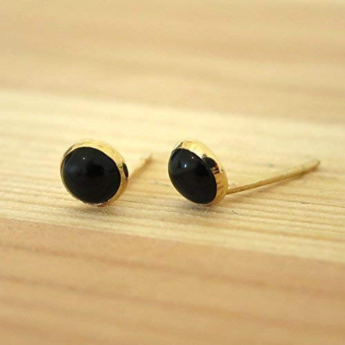 2db8746a5 Image Unavailable. Image not available for. Color: 14K Solid Yellow Gold  Black Onyx ...