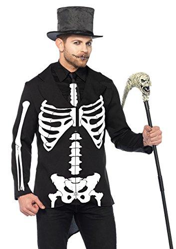 Mens Costumes Easy 2016 (Leg Avenue Men's Bone Daddy Costume, Black/White,)