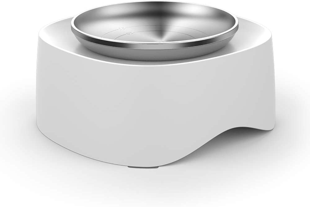 Laifug Stainless Elevated Cat Bowl Non Slip Cat Feeding Bowls for Cat and Kitten,Cat Weight Loss Bowl, Veterinarian Recommended