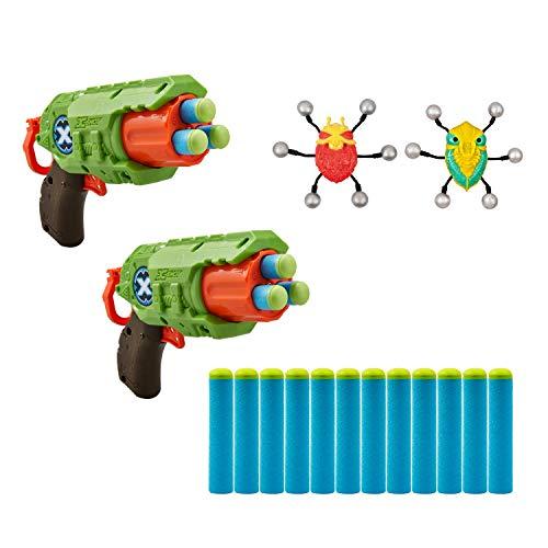 X-Shot Bug Attack Double Predator Foam Dart Blaster with Crawling Bugs (12 Darts) by ZURU