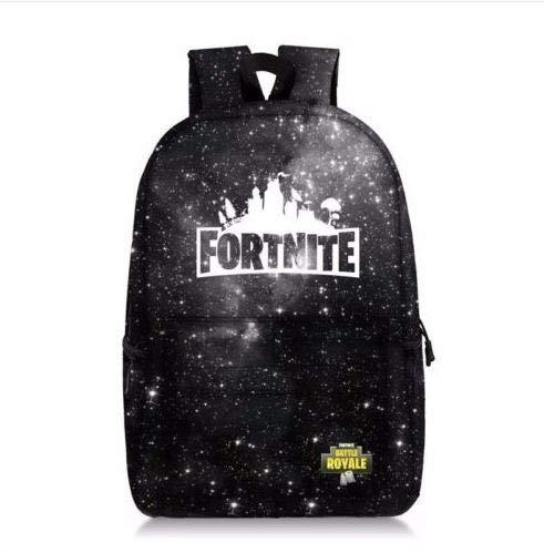 Fort-nite Battle Backpack Galaxy College School Bag Laptop Satchel Gift
