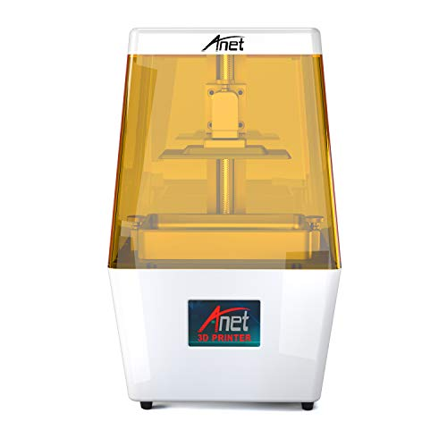 (Anet UV LCD 3D Printer N4, 40um Ultra High Precision AlPrint Honeycomb Structure Saving Resin Extreme Fast Slicing High Speed Printing with 3.5'' Smart Touch Color Screen USB Off-line Print)