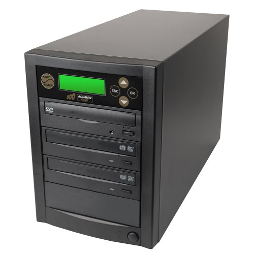 Acumen Disc 1 to 2 Target Discs DVD CD Duplicator Machine with Asus Writers Burners Drives (Standalone Audio Video Copy Duplication Device Unit)