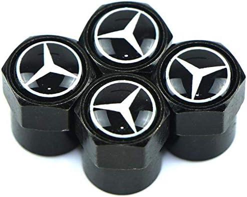 【GFA】メルセデス-ベンツAMG CLK CLA GLAK GLOC A B B B E A 180クラスの乗用車の形に適用される黒いタイヤバルブカバー4つの保護カバー