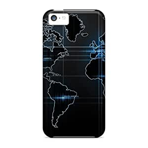 Tpu Case For Iphone 5c With World Map