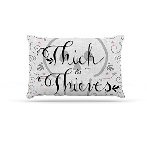 Kess InHouse Skye Zambrana Thick as Thieves  Fleece Dog Bed, 50 by 60 , White Black