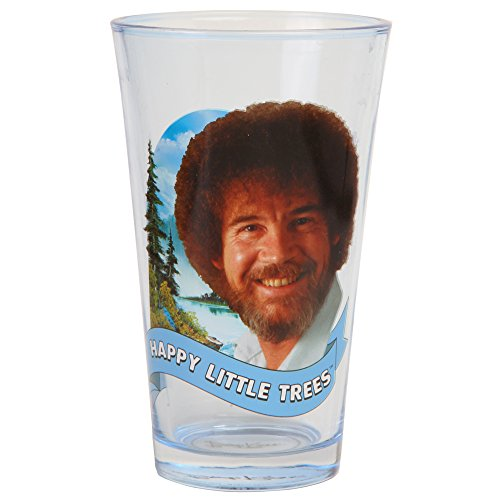 Bob Ross Happy Little Trees Pint Glass]()