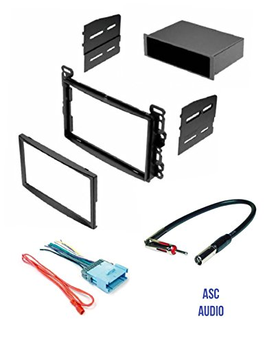 ASC Stereo Dash Kit, Wire Harness, and Antenna Adapter for some Chevrolet: 2005-2006 Cobalt, 2005-2006 Equinox, 2004-2007 Malibu / Maxx (no Classic model); Pontiac: 2005-2008 G6, 2006 Torrent
