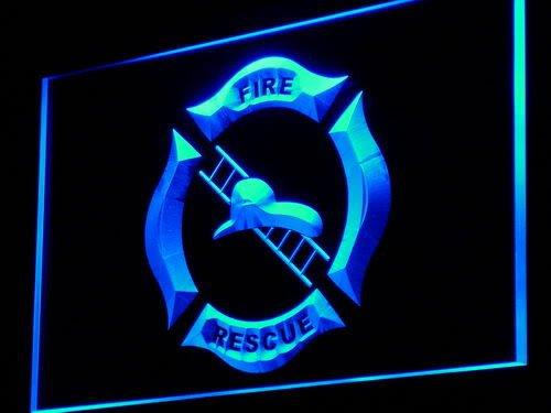 Firefighter Helmet Ladder Fire LED Sign Night Light i901-...