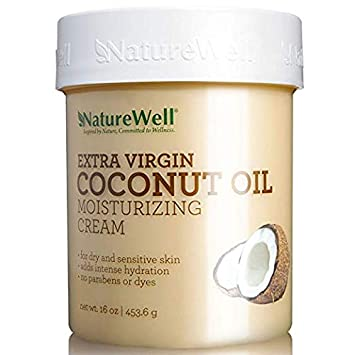 Nature Well Extra-Virgin Coconut Oil Moisturizing Cream proven antioxidants 2Pack 16 oz. nutrient-rich base