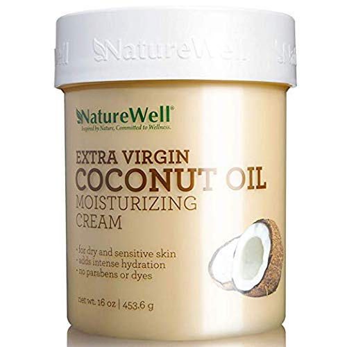 Nature Well Extra-Virgin Coconut Oil Moisturizing Cream proven antioxidants 3Pack (16 oz.) For dry and sensitive skin