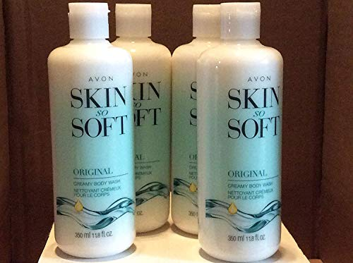 Skin So Soft Original Creamy Body Wash lot 4 pcs.
