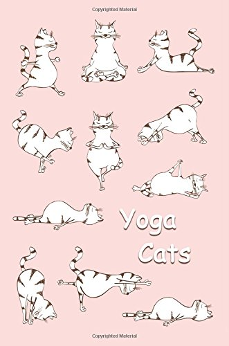Journal: Yoga Cats (Pink) 6x9 - GRAPH JOURNAL - Journal with graph paper pages, square grid pattern (Cats and Kittens Graph Journal Series)