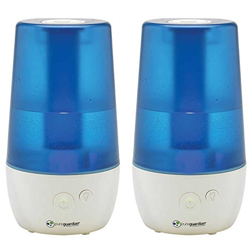 PureGuardian H965 70-Hour Ultrasonic Cool Mist Humidifier, Table Top, 1-Gallon (2)