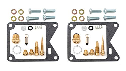 DP 0101-101 Carburetor Rebuild Repair Parts Kits (Set of 2) Fits Yamaha XV750 Virago 750 81-83 (1982 Yamaha Virago 750 Parts)