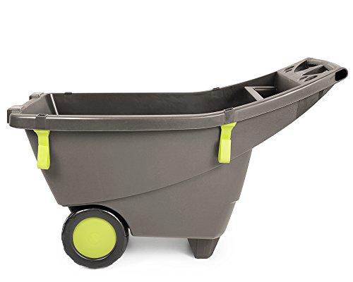Schubkarre Gartenschubkarre 140 Liter in beige-braun aus Kunststoff