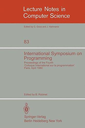 International Symposium on Programming: Proceedings of the Fourth