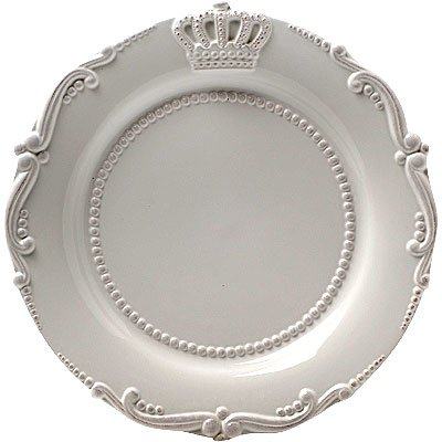 Lot Of 4 Ceramic Crown Salad Plate White 9.5
