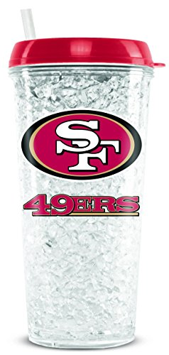 NFL San Francisco 49ers Duck House Crystal Tumbler with Straw (49ers Francisco San House)