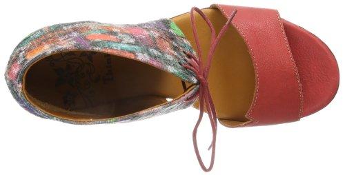 Think Jacky - Zapatos de pulsera Mujer Rojo (Rot (kirsch/kombi 74))