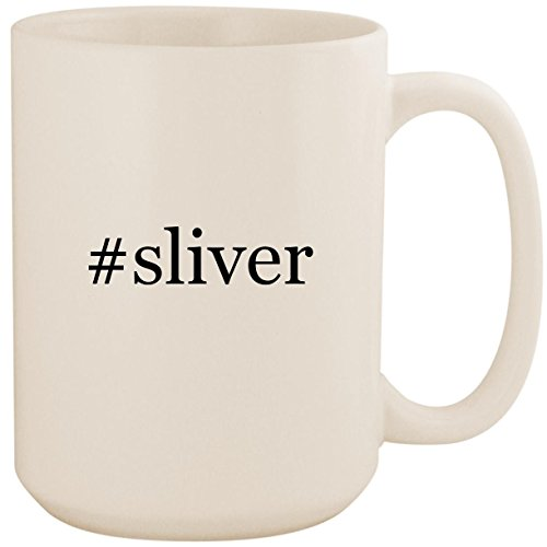 #sliver - White Hashtag 15oz Ceramic Coffee Mug Cup