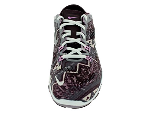 Nike Women's Wmn Free 5.0 TR FIT 4 PRT, DEEP BURGUNDY/IVORY/LT VOLT ORE/LT MAGENTA Dp Burgundy/Ivry/Light Volt Or/Lt Mg