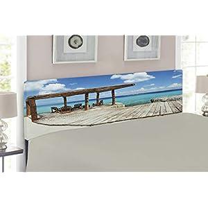 41dmd-cna%2BL._SS300_ Beach Headboards & Coastal Headboards