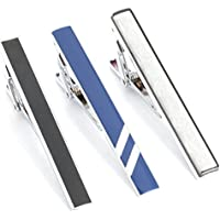 3pc Mix Colored Alloy Metal Mens Fashion Necktie Clips Set