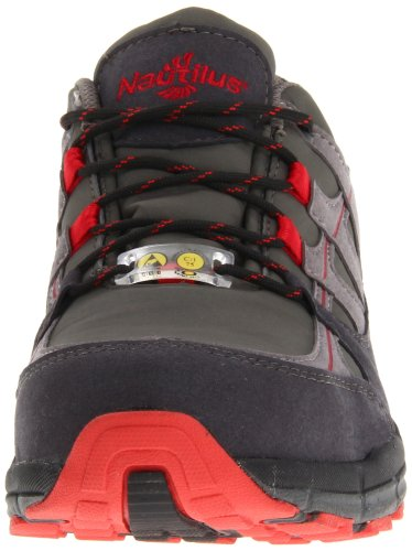Nautilus Safety Footwear Men's 1725 Work Shoe,Grey/Red,10.5 M US