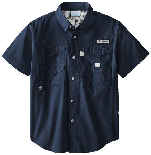 Columbia Sportswear Boy's Bonehead Short Sleeve Shirt (Youth), Collegiate Navy, Medium